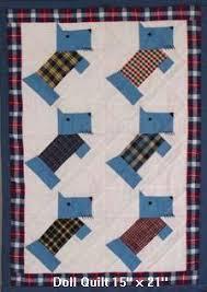 Free Scottie Dog Baby & Doll Quilt Pattern Instructions & large version of Scottie quilt Adamdwight.com