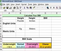Bmi Weigh How To Calculate Bmi In Excel Techwalla Com