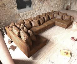 Couch Clovis Xl Braun Antik Optik Wohnlandschaft Modulsofa