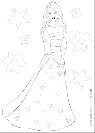 Barbie Doll Coloring Pages Barbie The Princess And The Coloring