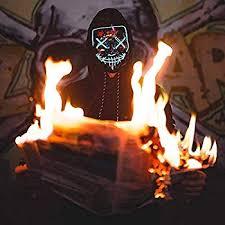 Masks Vos Risus <b>Halloween</b> Mask LED Light Up <b>Purge</b> Mask for ...