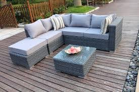 rattan corner garden furniture conservatory modular 5 rattan corner sofa set suite garden furniture grey rattan