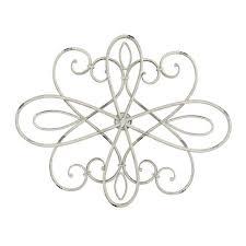 oval swirl iron metal wall medallion