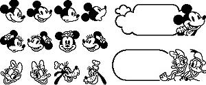 ブラザーミッキーやプーさんのイラスト入りラベルを作れるラベル