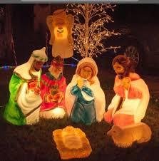 diy light piece nativity set outdoor yard decor lighting exciting