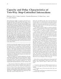 Capacity and Delay Characteristics of Two-Way Stop-Controlled ...