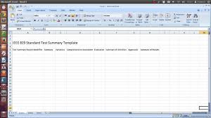 test plan template excel ieee 829 standard test summary report template youtube