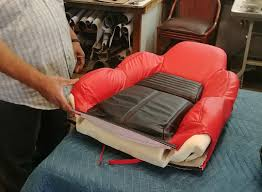 while some prefer this method we separated the backrest covers from the foam and got to work