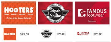 hooters gift card email delivery 25 20 00 after code hooters5 at checkout reg