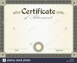 Vintage certificate of achievement with ornate elegant retro