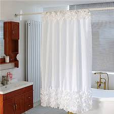 white lace shower curtain. Uomere 72 *72 Inch White Lace Bathroom Shower Curtain With Nickel Varnish Hooks R