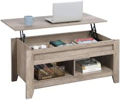 5 out of 5 stars (627) 627 reviews $ 519.00. Amazon Com Yaheetech Lift Top Coffee Table With Hidden Storage Compartment Lower Shelf Dining Table Farmhouse For Living Room 24 2in H Craftsman Oak Furniture Decor