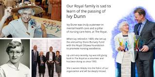 "Royal Ottawa Foundation on Twitter: ""Ivy Dunn dedicated her career to  delivering excellence in health care. Ivy gave back to the Royal Ottawa  Foundation, since 1990. She is woven deeply into the"