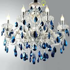 blue chandelier light ceiling metal blue crystal chandeliers light catalogue light ideas throughout unique long blue