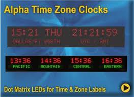 Military Zulu Time Chart Digital Time Zone Displays World Clocks Digital World