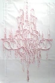 james drake br pink chandelier 2016 red pastel graphite tape