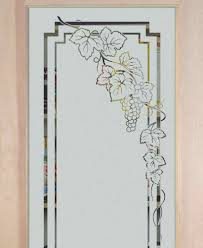 Cabinet With Frosted Glass Doors Grapevines Ivy Designs Sans Soucie Art Glass