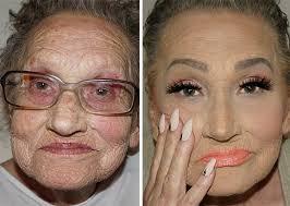 grandmother makeup contouring tea flego 1