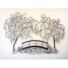 weeping willow tree scene metal wall d cor on metal wall art trees willow with mica metal wall art tree wayfair uk