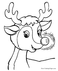 Printable Christmas Coloring Pages Reindeer Weareeachother Coloring
