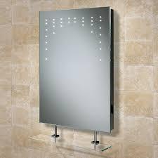 HIB Rain LED Illuminated Bathroom Mirror with Glass Shelf W500 x