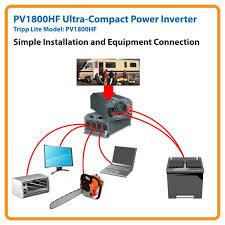 amazon com tripp lite pv1800hf compact inverter 1800w 12v dc to pv1800hf application diagram