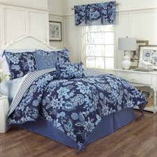 Bedroom Wondrous When Using King Quilt Sets Pics On Staggering Blue Toile  Bedding For Enchanting White ...