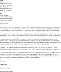 Sonographer Cover Letter   Cover letters Samples   job search