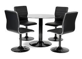 Table 4 Chaises Alister Noir