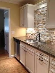 stone kitchen backsplash. Cabin Kitchen Backsplash And White Cabinets Stone C