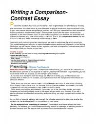 Compare And Contrast Essay Outlines Compare And Contrast Essay Outline Template 2018 Printables Corner