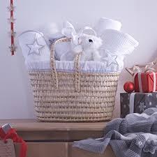 silver star baby gift her basket