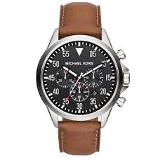michael kors men s watches shop the best deals for 2017 michael kors men s mk8333 gage luggage leather chronograph watch