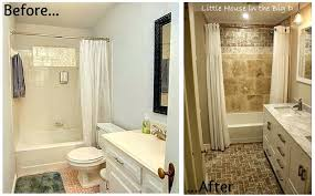 Small Bathroom Remodels Before And After Bath Or Shower Small