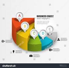 3d Pie Chart Steps Business Infographics Stock Vector