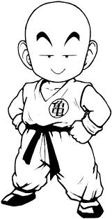 Crilin Personaggio Dragon Ball Disegno Da Stampare E Da Colorare