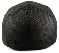 Fitted style - Black Flexfit Mesh Big Trucker Hat