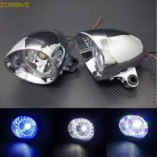 Us 29 99 Zorbyz Pair Motorcycle Chrome Led Bullet Spot Light Fog Light With Angel Eye For Harley Honda Yamaha Custom On Aliexpress