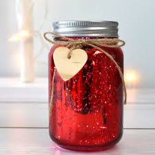 Decorated Jam Jars For Christmas Red Sparkle Firefly Jar Light By Thelittleboysroom 28