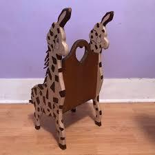 wooden giraffe toddler chair vintage nursery furniture zoo vintage toddler chair image permalink