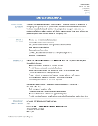 Emergency Medical Technician Resume Template Resume Sample Emt Resume 15