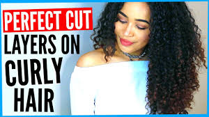 diy layered haircut on curly hair how to cut curly hair into layers by yourself by lana summer