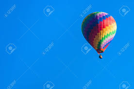 Close Up Of A Colorful Floating Balloon Floating In The Sky