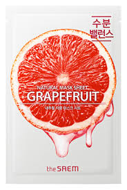 <b>Тканевая маска с экстрактом</b> грейпфрута Natural Grapefruit Mask ...