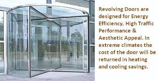 nowadays revolving doors are available in so many designs and you have to pick up the best one as per your business requirements as well as budget
