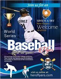 Baseball Brochure Template Baseball Game Flyer Template Hero Flyers