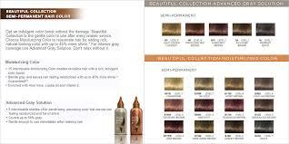 Clairol Demi Permanent Color Chart 56 Expert Clairol Advanced Gray Solution Color Chart