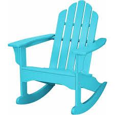 hanover aruba all weather adirondack rocking patio chair