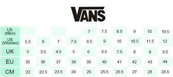 Inquisitive Size Chart Sepatu Vans Shoe Size Conversion