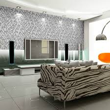 Wallpapering For A Living Room Beautiful Black And White Patterned Home Wallpaper Furniture
